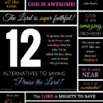 "12 Alternatives to ""Praise the Lord!"""