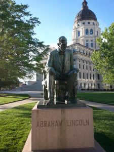 Abraham Lincoln at State Capitol in Topeka, KS