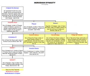 Herodian Dynasty Chart by Craig Bondy