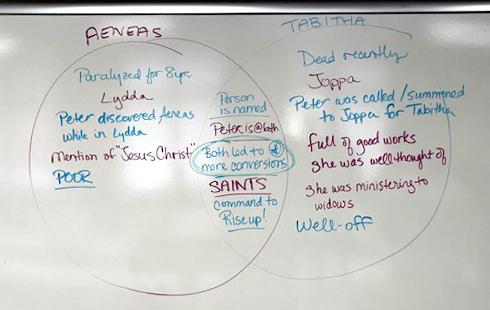 Aeneas and Tabitha Venn Diagram