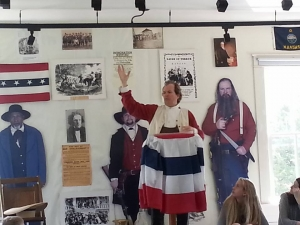 Monologue Presentation at Constitution Hall in Lecompton, Kansas