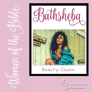 "Women's History Month: Women of the Bible.Day 12: Bathsheba (lit. ""daughter of the oath"").When we first meet Bathsheba she is at her home—alone—bathing on her roof. This is no soothing bubble bath: Her monthly menstrual cycle is finally over so she is purifying herself as prescribed in Leviticus 15..At this time of day, the king is usually taking a nap; however, on this day, he can't sleep. Maybe he's thinking about his soldiers at war wondering how the battle is going. He rises and heads up to his rooftop for some fresh air...but he gets more than he bargained for..A beautiful woman is washing the most private area of her body completely unaware that he is watching her. The king is aroused and consumed with insatiable lust for her. He immediately begins plotting his sexual conquest..David learns that Bathsheba is married to one of his 37 ""mighty men"" who happens to be at war fighting for Israel. Within the next couple of weeks, the king summons her to the palace and has his way with her. Did she have a choice?.She returns home to process what just happened. .Alone. Violated. Confused..And..Pregnant..When she informs the king, he pulls out all the stops to bring her husband home so he can sleep with her—covering up his indiscretion, saving both their reputations..But Bathsheba's husband refuses to sleep with her while his comrades are fighting. Does he know? Can he sense the king's hidden agenda?.When ""Plan A"" doesn't work, David resorts to ""Plan B"" and has Bathsheba's husband killed in battle. He waits until her mouring is over and brings her to the palace as his wife. Did she have a choice?.Sadly, their baby dies..Bathsheba loses her husband, her home, and her firstborn. David comforts her, and eventually she becomes pregnant again. This time, the baby lives and becomes one of the greatest kings and wisest men in all of Israel's history: King Solomon..Bathsheba plays a critical part in Solomon's coronation as heir to the kingdom..You can learn more about Bathsheba in 2 Samuel 11-12 and 1 Kings 1-2. David begs for God's forgiveness for his indiscretion with Bathsheba in Psalm 51."