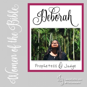 "When we first meet Deborah, we learn that she is a prophetess, a wife, and a Judge over Israel—her roles are listed in that order..Deborah is the fourth Judge of Israel, her 40-year reign falling between that of Shamgar and Gideon. She could often be found sitting beneath a certain palm tree (later named after her) between Ramah and Bethel in the hill country of Ephraim..People from all over Israel would travel to meet with Deborah for the sole purpose of seeking her wise opinion on matters of justice..One day, she sent for a man named Barak who was living in Naphtali. She prophesied that God was commanding him to prepare for battle; that God would bring their enemy to the Kishon River; and that God would give the Canaanite king into his hand..Rather than step out in faith taking God at His word, Barak hesitated. In fact, he issued an ultimatum to Deborah: ""Barak said to her, 'If you will go with me, I will go, but if you will not go with me, I will not go.'"" (Judges 4:8).Deborah agreed to go but not before addressing his lack of faith. She prophesied that because of his attitude, the Lord would deliver his enemy into the hand of a woman. She did not specify who the woman would be..Deborah not only went with Barak to battle, she also told him when to fight. She reminded him that the LORD would go ahead of him and that he would win the battle..Judges 5 retells this story from chapter 4 in poetic form and is possibly one of the oldest parts of the entire Bible. This victory hymn ""The Song of Deborah"" dates back to the 12th century BC..You can read more about Deborah in Judges 4-5"
